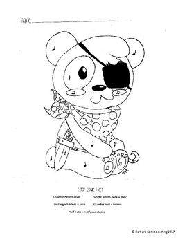 Panda Color By Notes
