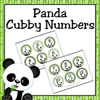 Panda Cubby Number Labels 1-30