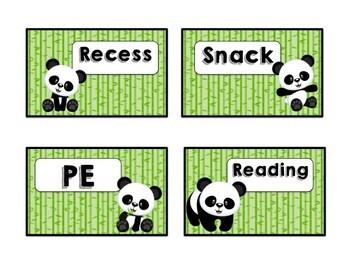 Panda Daily Schedule Cards