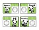 Panda Daily Schedule Cards with Clocks