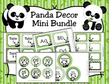 Panda Decor Mini Bundle
