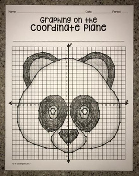 Panda Face (Graphing on the Coordinate Plane/ Mystery Picture)