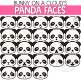 Panda Faces Clipart by Bunny On A Cloud
