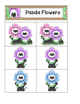 Panda Flowers- Card Matching easy