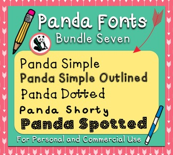 Panda Fonts: Bundle SEVEN! 5 Unique Fonts