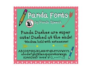 Panda Fonts: Single Font: Panda Dashes
