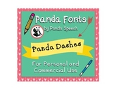 Panda Fonts: Single Font: Panda Dashes