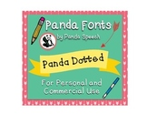 Panda Fonts: Single Font: Panda Dotted