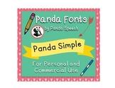 Panda Fonts: Single Font: Panda Simple