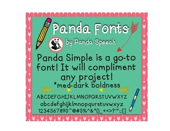 Panda Fonts: Single Font: Panda Simple