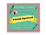 Panda Fonts: Single Font: Panda Spotted