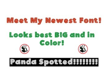 Panda Fonts: Single Font: Panda Spotted