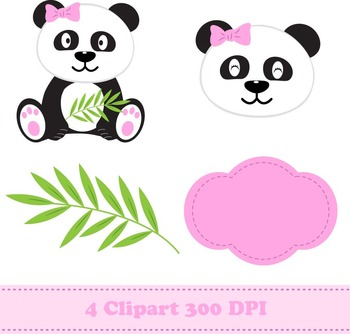 Panda Girl Digital Paper & Clipart