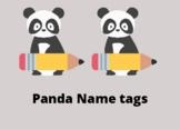 Panda Name Tags