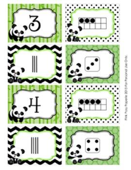 Panda Number Match Activity