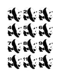 Panda Numbers for Calendar or Counting Activity