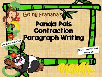 Panda Pals Contraction Paragraphs