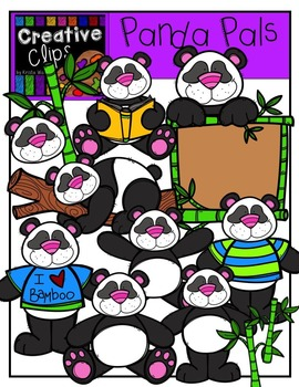 Panda Pals {Creative Clips Digital Clipart}