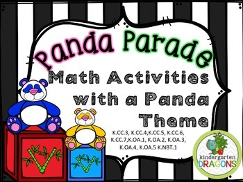 Panda Parade Math with Self and Math with Someone Activities