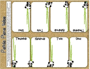 Panda Place Value - Math Game (Digits)