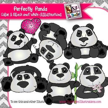 Panda Play Clip Art