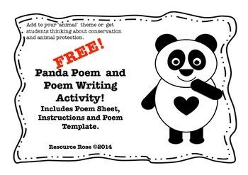 Panda Poem and Poem Writing Activity