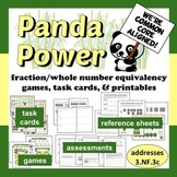 Panda Power - fraction/whole number equivalence resource bundle