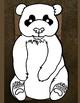 Panda Puppet, Panda Bear Paper Bag Puppet Template, Panda Bear