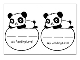 Panda Reading Level Bookmark