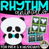 Panda Rhythms: 34 Pages of Rhythm & Animal Cards for Your Youngest Students