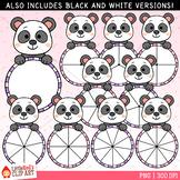 Panda Spinners Clip Art
