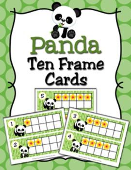 Panda Ten Frame Cards