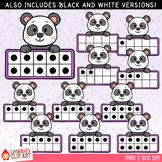 Panda Ten Frames Clip Art