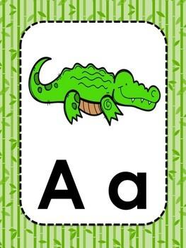 Panda Theme Alphabet Cards