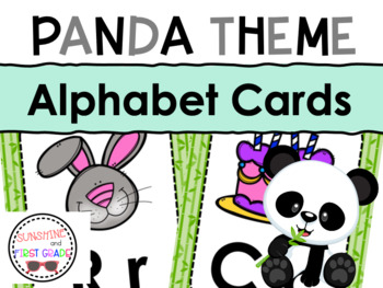 Panda Theme Alphabet Cards