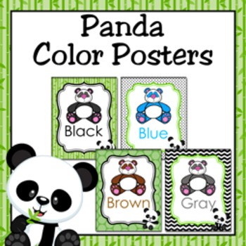 Panda Theme Color Posters