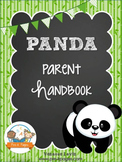 Panda Theme Parent Handbook Back-to-School {personalize it}