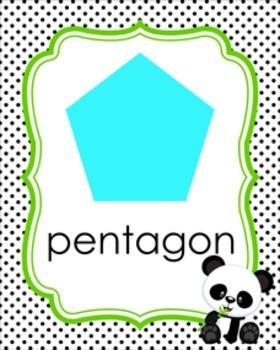 Panda Theme Shape Posters