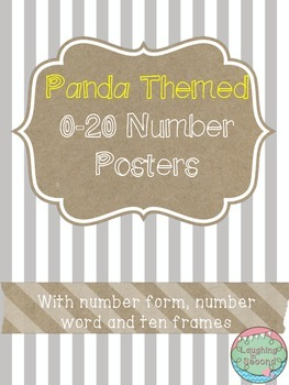 Panda Themed 0-20 Numbers Posters