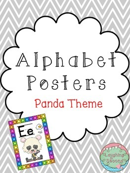 Panda Themed Alphabet Posters