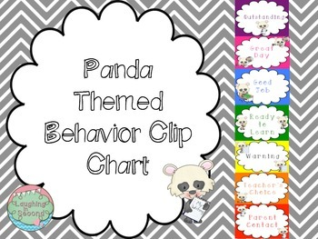 Panda Themed Behavior Chart