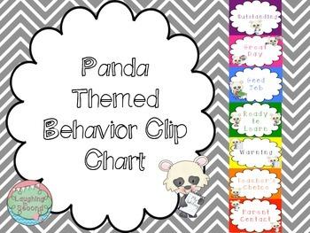 Panda Themed Behavior Chart