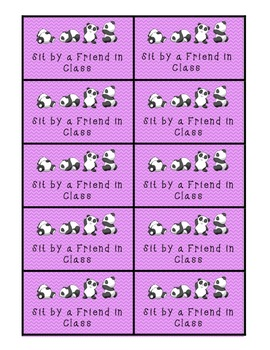 Panda-Themed Classroom Rewards