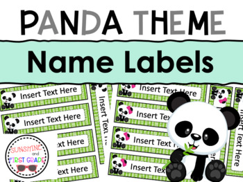 Panda Themed Editable Name Labels