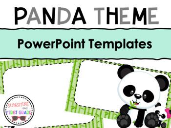 Panda Themed Editable Powerpoint Presentation