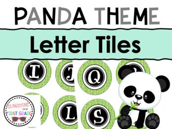 Panda Themed Letter Tiles