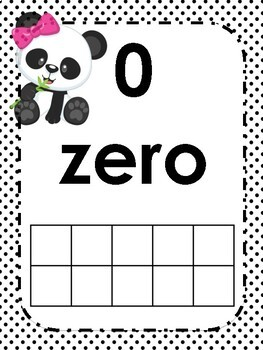 Panda Themed Number Line