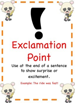 Panda Themed - Punctuation Posters