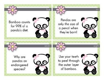 Panda Types of Sentences Task Cards