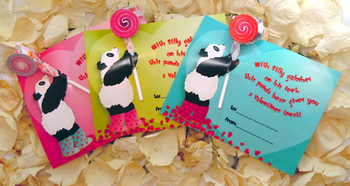 Panda Valentines Day Card